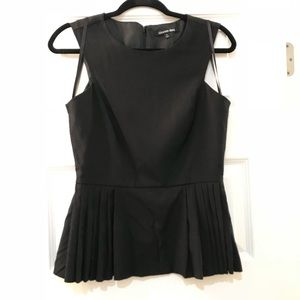 Gianni Bini Black Textured Peplum